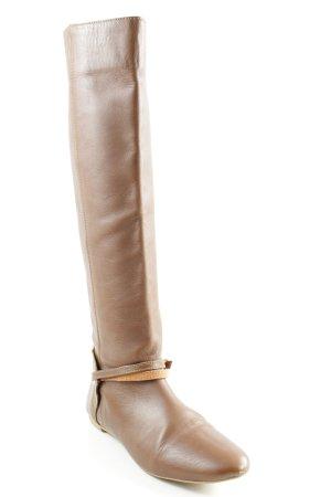 Zara Wide Calf Boots brown casual look