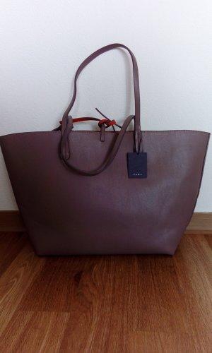 Zara Shopper gris brun-orange foncé