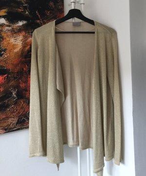Zara Gilet tricoté brun sable-doré viscose