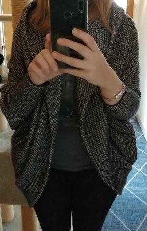 Zara Weste Cardigan mit Fledermausärmel schwarze/beige Gr. M