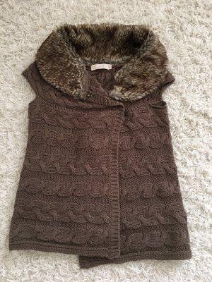 Zara Knitted Vest brown
