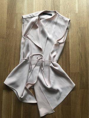 Zara Cowl-Neck Top nude-cream