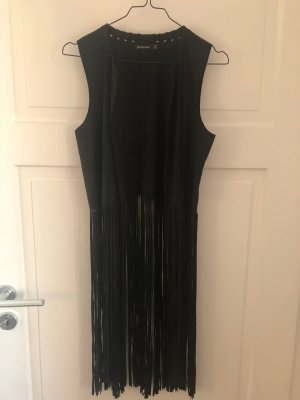 Zara Fringed Vest black