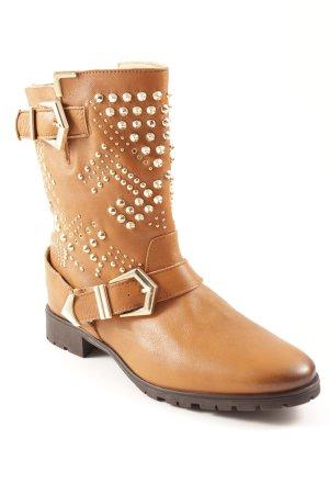 Zara Botines estilo vaquero coñac-color oro estilo country