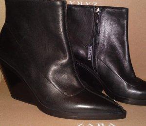 Zara Western Stiefeletten Echtleder schwarz Gr. 41 neu mit Etikett