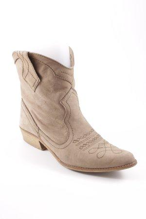 Zara Botines estilo vaquero marrón claro estilo country