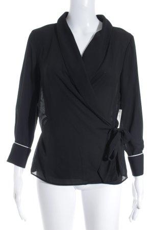 Zara Wikkelblouse zwart zakelijke stijl