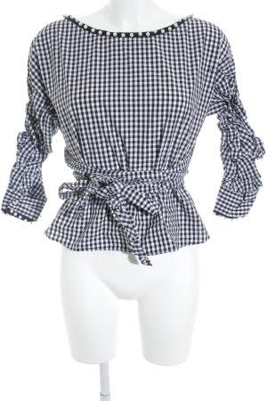 Zara Camicetta aderente nero-bianco motivo a quadri elegante