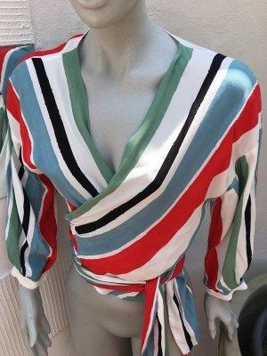Zara Wraparound Blouse multicolored