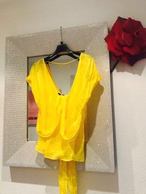 Zara Blusa cruzada amarillo