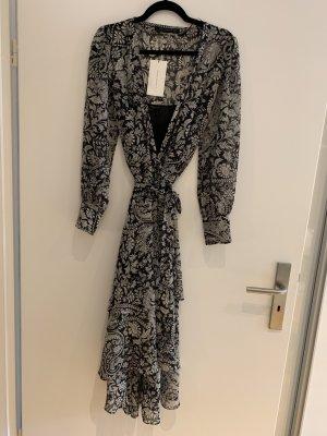 Zara Woman Wraparound white-black polyester