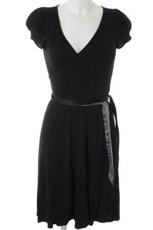 Zara Robe portefeuille noir-gris foncé style décontracté