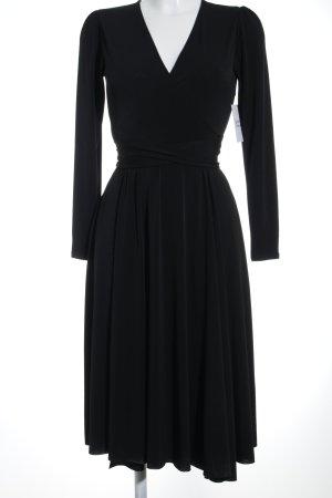 Zara Wickelkleid schwarz minimalistischer Stil