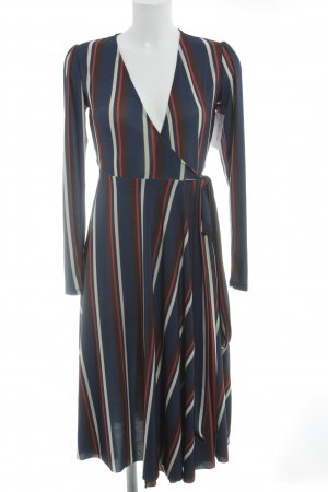 Zara Robe portefeuille motif rayé style d'affaires