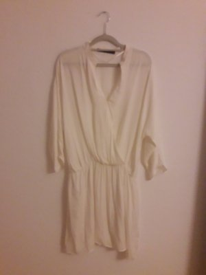 zara wickelkleid weiß boho dress gr. m