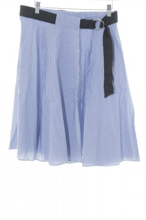 Zara Wraparound Skirt white-steel blue striped pattern casual look