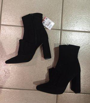 Zara Bottines noir cuir