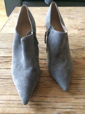Zara Wildleder Booties 40 grau einmal getragen