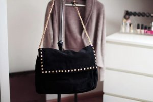 Zara Shopper black suede