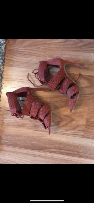 Zara Wildleder High Heels