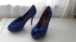 Zara Wildleder Highheels (blau)