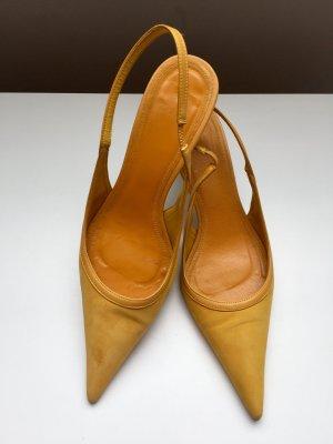 Zara Escarpins orange doré