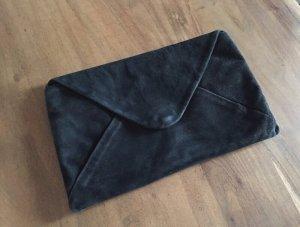 Zara - Wildlederclutch schwarz