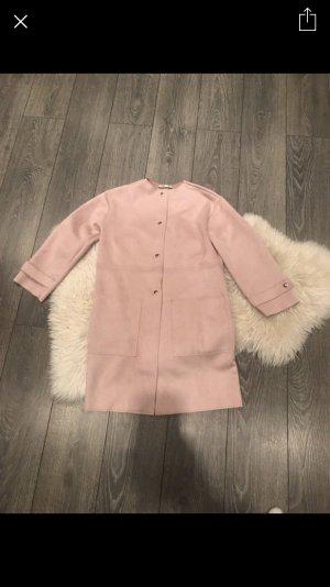 Zara Wildlederimitat Mantel rosa