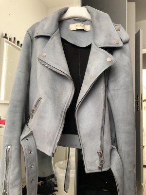 Zara Biker Jacket baby blue-azure