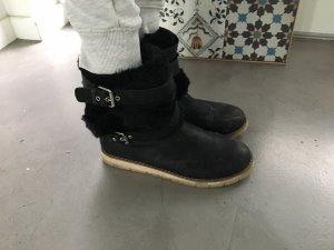 Zara Winter Schuhe Größe 36 schwarz Booties Stiefeletten