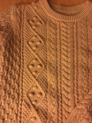 Zara Winter Strickpullover aus Baumwolle