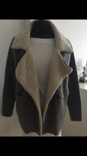 Zara Giacca di pelliccia multicolore