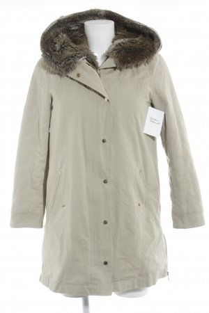 Zara Winterjacke creme Street-Fashion-Look