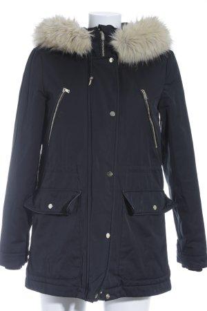 Zara Winterjacke schwarz Casual-Look