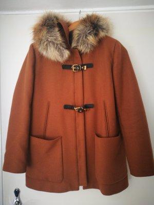 Zara Manteau d'hiver brun