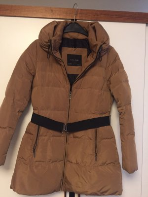 Zara Down Coat camel-black