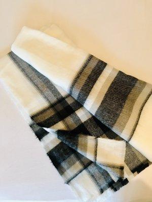 Zara Bufanda de lana blanco-negro