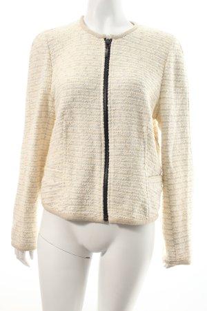 Zara Blazer en laine crème-argenté Motif de tissage