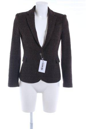 Zara Wool Blazer dark brown-dark blue check pattern Brit look