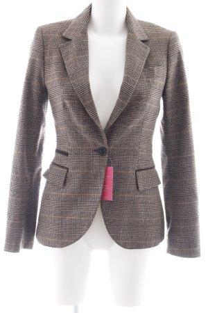 Zara Wool Blazer houndstooth pattern casual look