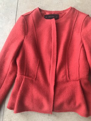 Zara Woll Blazer Orange Gr M