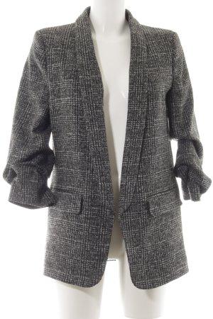 Zara Woll-Blazer schwarz-grau Casual-Look