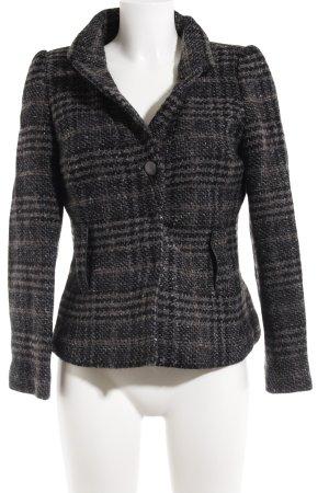 Zara Wool Blazer black-grey check pattern elegant