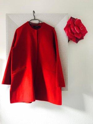 Zara Abrigo de lana rojo
