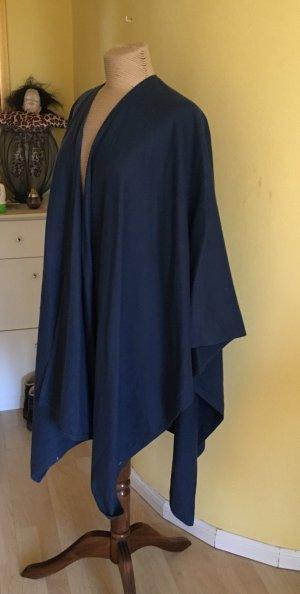 Zara Wolle Cape unisize dunkelblau
