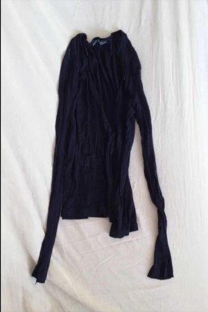 Zara Top lungo blu scuro
