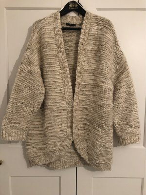 Zara Knit Wollen Jack licht beige
