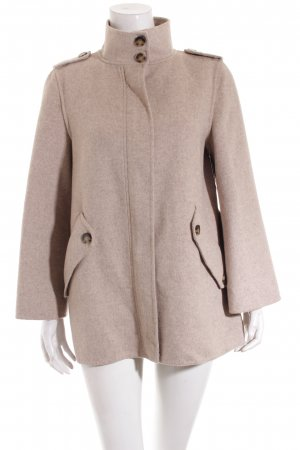 Zara Wolljacke beige Casual-Look