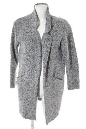 Zara Giacca di lana grigio chiaro-nero puntinato stile casual