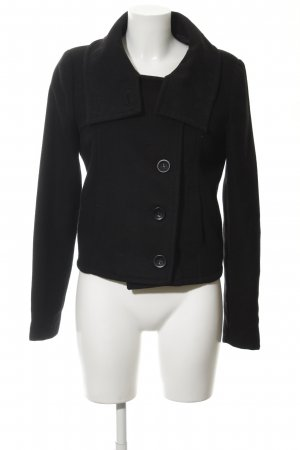 Zara Wool Jacket black casual look